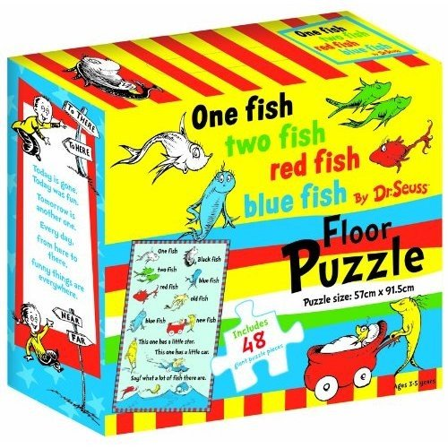 Dr. Seuss One Fish Two Fish Red Fish Blue Fish Floor Puzzle - 1