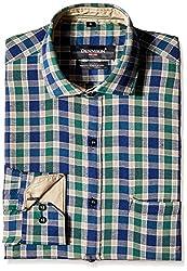 Dennison Men's Formal Shirt (SS-16-386_40_Green)