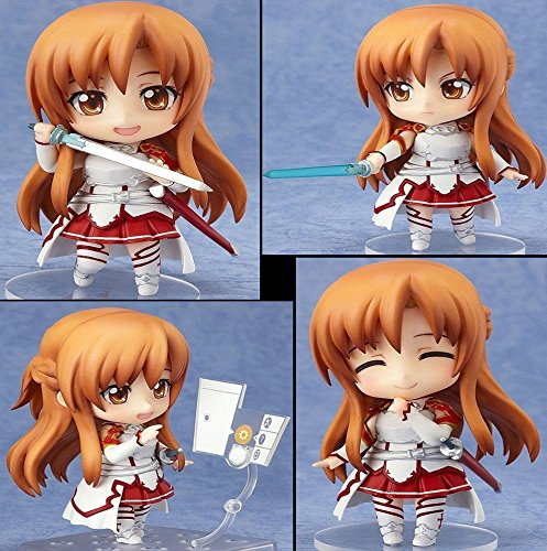 [Asuna Nendoroid Action Figures Sword Art Online Size 4 inches Changeable Head and Arm with Stand] (Megaman Halloween Costume)