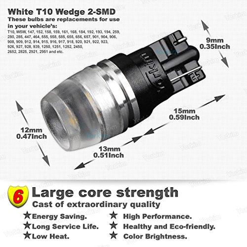 194 LED Light Bulb, Yorkim® T10 Wedge Samsung High Power