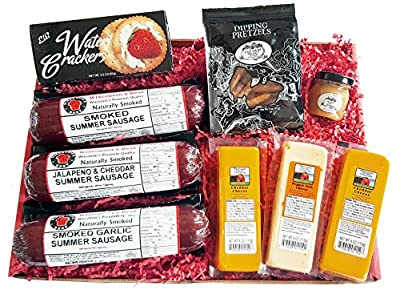 WISCONSIN'S BEST and WISCONSIN CHEESE COMPANY - ULTIMATE Gift Basket - features Smoked Summer Sausages, 100% Wisconsin Cheeses, Crackers, Pretzels and Mustard - Awesome Gift by WISCONSIN'S BEST, LLC and WISCONSIN CHEESE COMPANY