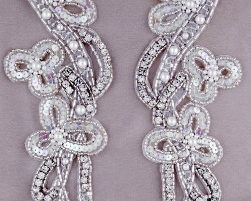 Cassandra Matching Rhinestone Applique By Shine Trim