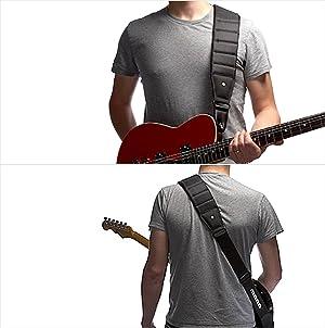 MONO Betty Guitar Strap Long - Black (Color: Black)