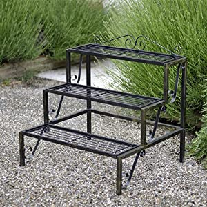 Plant Terrace 3 Tier Metal Plant Stand