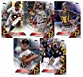 2016 Topps Series 2 Baseball Pittsburgh Pirates Team Set of 11 Cards: Jeff Locke(#361), Michael Morse(#384), Gregory Polanco(#428), Gerrit Cole(#452), Elias Diaz(#504), Tony Watson(#510), Jordy Mercer(#527), Sean Rodriguez(#558), Chris Stewart(#586), Neft