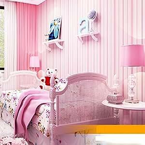 Mediterranean style pink striped bedroom wallpaper for Amazon bedroom wallpaper