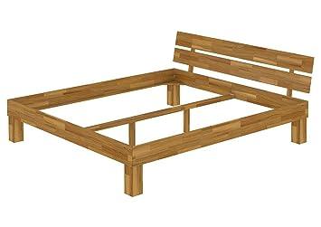 Einzelbett 90x200 Bett ohne Rollrost Futonbett Singlebett Massivholzbett Eiche natur 60.88-09 oR