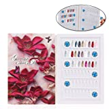 Anself Detachable Nail Display Book,96 Colors 4D Cover Nail Art Gel Polish Color Card (Don't Include Tips) - Red Flower (Color: Detachable (Red Flower))