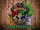 Harry Potter Hogwarts Edible Image Photo Cake Topper Sheet Personalized Custom Customized Birthday - 1/4 Sheet - 77991