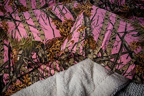 Pink Camouflage Bedding 2961 front