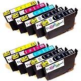 10x Epson Expression Home XP - 412 kompatible XL Druckerpatronen - 4xSchwarz-2xCyan-2xMagenta-2xGelb - Patrone MIT CHIP !!!