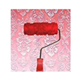 Black Temptation Embossed Paint Roller Wall Painting Runner Wall Decor DIY Tool, Pattern 19 (Color: Multicolor, Tamaño: 15cm)