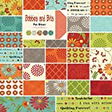 Moda Bobbins and Bits Prints Charm Pack, Set of 42 5-inch (12.7cm) Precut Cotton Fabric Squares