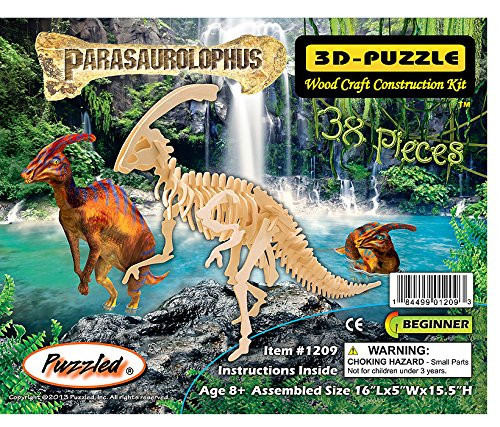 3-D Wooden Puzzle - Large Parasaurolophus -Affordable Gift for your Little One! Item #DCHI-WPZ-BJ-015 - 1