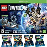 LEGO Dimensions Starter Pack for Xbox One PLUS LEGO Movie Bundle with Emmet 71212, Bad Cop 71213, Benny 71214, and UniKitty 71231