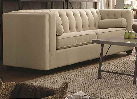 Stationary Sofa with Tufted Back