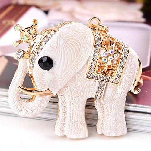 USATDD Elegant Elephant Keychain Rhinestone Crystal Pendent Clothing Accessories Handbag Decoration Sparkling Keyrings With Gift Box (Walmart Women Clothing compare prices)