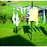 50m Brabantia Liftomatic Outdoor Rotary Clothes Airer