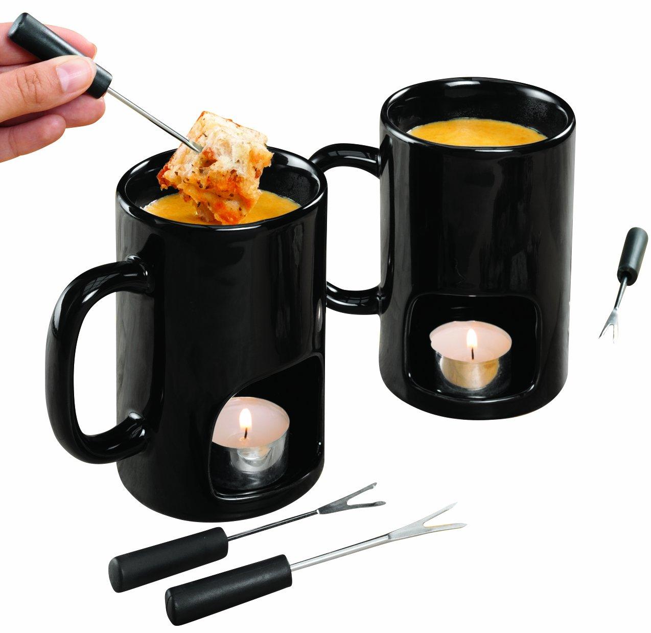 Gadgets Grasaffinity: taza para fondue individual