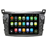 8 Inch 2 Din Android 5.1.1 Lollipop OS Car Radio Player for Toyota RAV4 2013 2014 2015 2016 ,Quad Core 1.6G Cortex A9 CPU 16G Flash 1G DDR3 RAM 1024x600 Touchscreen GPS DVD Aux Input OBD2