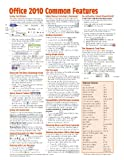 img - for Office 2010 Common Features Quick Reference Guide (Cheat Sheet of Instructions, Tips & Shortcuts - Laminated Card) book / textbook / text book