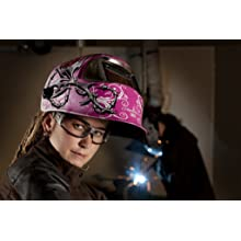 3M Speedglas Wild-N-Pink Welding Helmet 100, Welding Safety 07-0012-31WP/37229(AAD), with 3M Speedglas Auto-Darkening Filter 100V, Shades 8-12