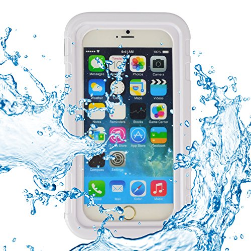 ECCRIS discount duty free SumacLife Universal 5.5 Inch Waterproof Heavy Duty Case for Apple Iphone 6S Plus / Apple Iphone 6 Plus (white)