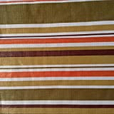 Brown White Orange and Green Striped Tablecloth 52in X 52in Square