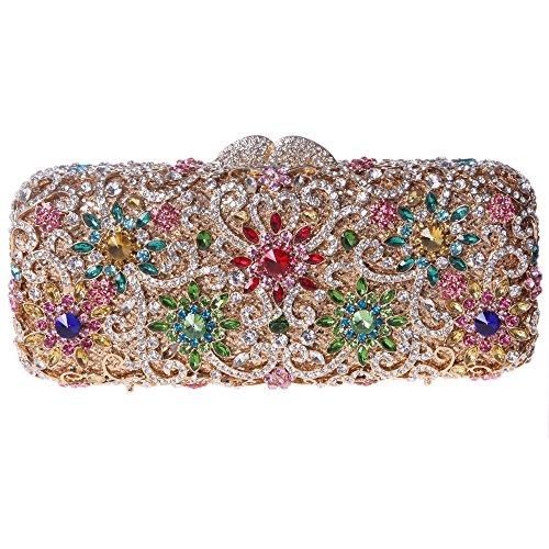 Фото - Fawziya® Sun Flower Purse Women's Baguette Rhinestone Clutch Evening Bag fawziya bird clutch bags for womens evening bag hard case rhinestone