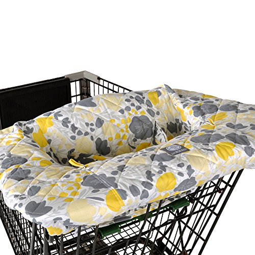 Find Bargain Yellow Tulip Shopping Cart and Highchair Cover - 100% Cotton Floral Design