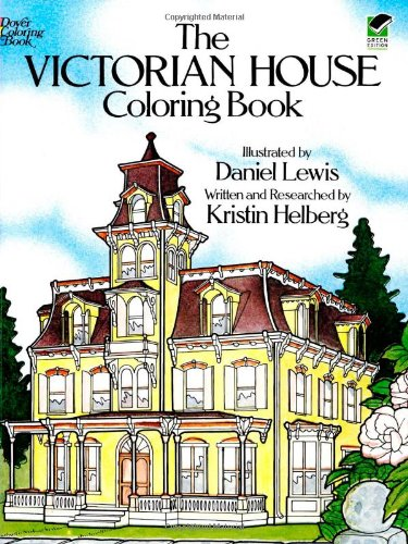 Adult coloring books the victorian house design patterns for Home architecture books