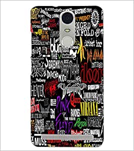 PrintDhaba Typography D-4588 Back Case Cover for LENOVO K5 NOTE (Multi-Coloured)