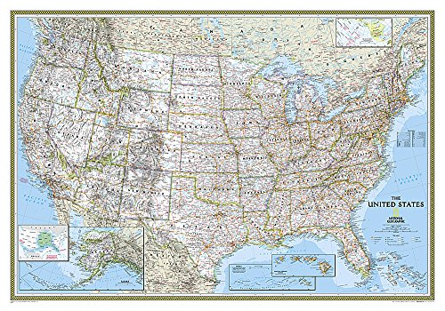 United States Classic [Tubed] (National Geographic Reference Map) (Wall Map United States compare prices)