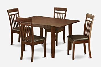 East West Furniture PSCA5-MAH-LC 5-Piece Kitchen Table Set