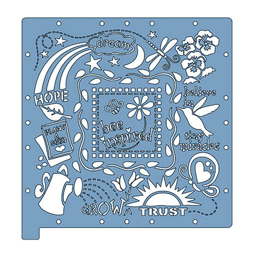 Fiskars ScrapBoss Stencil Sets, Themed Inspirational