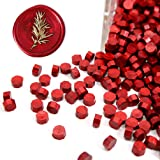 UNIQOOO Arts & Crafts 180 Pcs Metallic Burgundy Wine Red Bottle Sealing Wax Beads Nuggets for Wax Seal Stamp, Great for Embellishment of Cards Envelopes, Wedding Invitations, Wine Packages, Gift Ideas (Color: Burgundy)