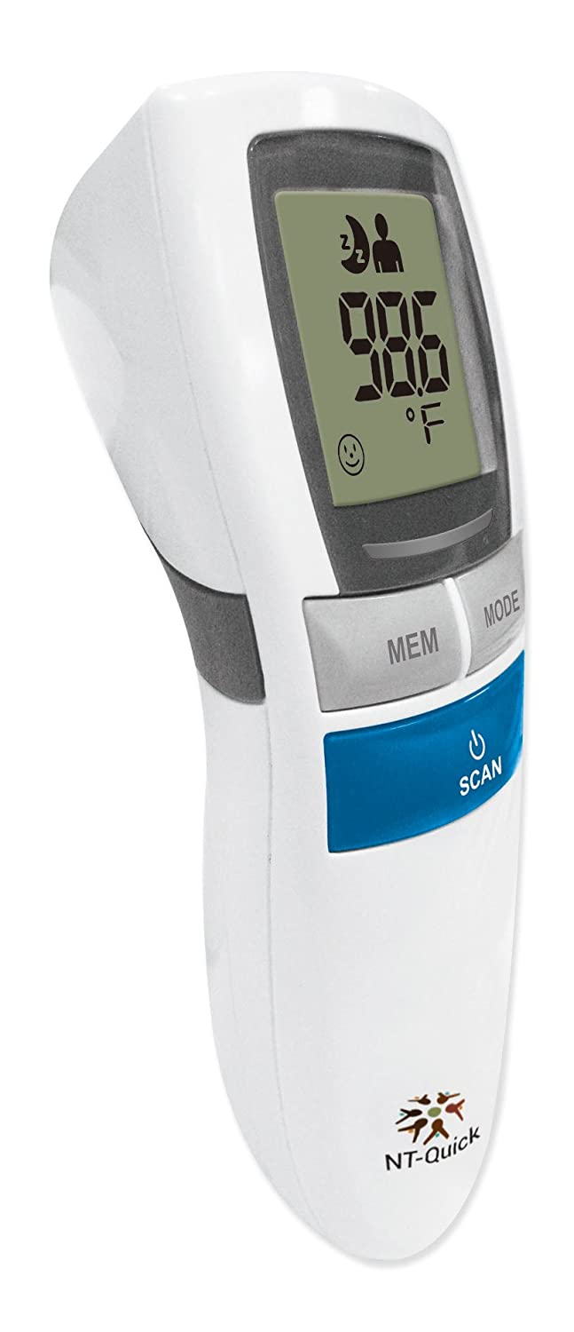 Operon Nt 17 Non Contact Thermometer White Grey Omron Mc 246 Digital Quick Infrared