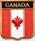 Mapel Leaf Canada Canadian Flag Shield Team Biker Club Uniform flag Ecusson brode Ecussons Imprimes patch Sew Iron on Embroidered