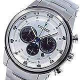 シチズン エコドライブ クロノ クオーツ メンズ 腕時計 CA4034-50A シルバー[逆輸入品] [t-1]