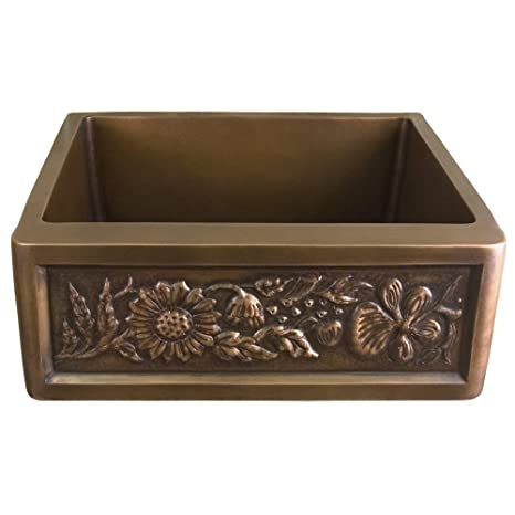 Barclay FSCSB3118-AC Avena Single Bowl Copper Farm Sink