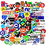 Programming Stickers for Laptop(70pcs),Vinyls Stickers for Developer Stickers of Front-end dev,Back-end Languages Graffiti Stickers for Engineers,Hackers,Decoration,C# C++,Python,JS,Java (Color: 70pcs)