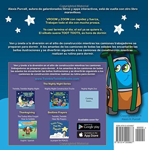 Buenas Noches Camiones de Construccion: Volume 2 (Nighty Night Bedtime Books Series (Spanish Version))