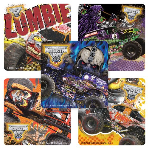 Monster Jam Zombie Truck Stickers - 75 Per Pack