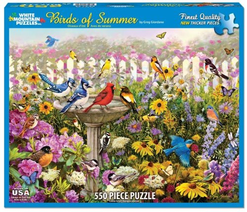 Birds of Summer - 550 Piece Jigsaw Puzzle