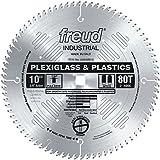 Freud LU94M010 10-Inch 80 Tooth MTCG Plexiglass and Plastic Cutting Saw Blade with 5/8-Inch Arbor