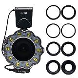 Venidice SL-102 Camera Manual Ring Light Flash, Macro LED Ring Flash(LCD Display) for 40.5mm, 52mm, 55mm, 58mm, 62mm, 67mm, 72mm, 77mm Lens DSLR Cameras (Color: 6''ring Light(gray), Tamaño: Small Ring Light)