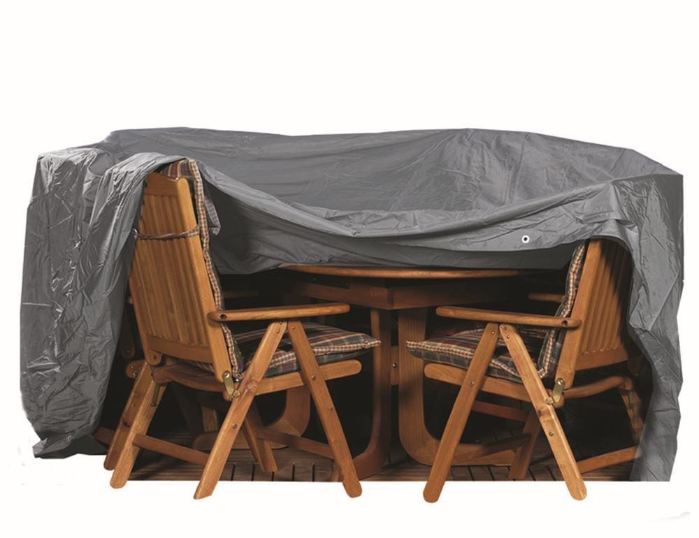 Siena Garden 150951 Schutzhülle für Sitzgruppe 200 x 150 PVC-Oxford 600 anthrazit