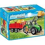 Playmobil - 6130 - Tracteur avec pelle et remorque