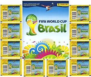 2014 FIFA World Cup Brazil Panini Stickers Super Combo Package! Features 20 Factory Sealed Packs PLUS 72 Page World Cup Sticker Album! Includes Total of 150 Brand New Stickers!