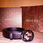 Authentic All Black Gucci Belt